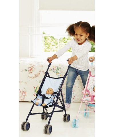 Cup Cake Doll's Stroller - Blue