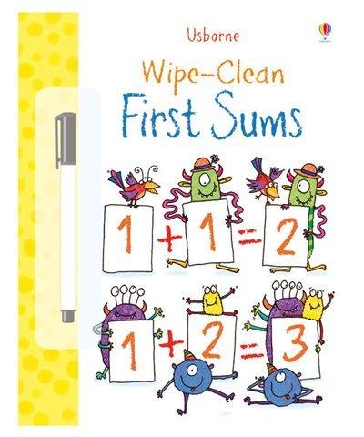 Usborne Wipe Clean First Sums Activity Book