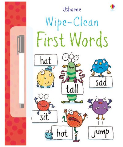 Usborne Wipe Clean First Words Activity Book
