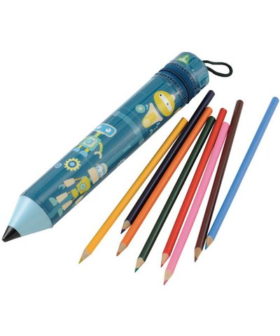 Colouring Pencils and Case- Blue