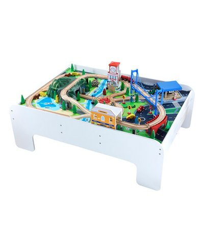 Big City Wooden Train Table