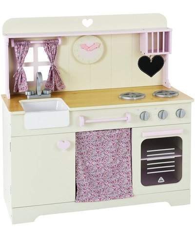 Wooden Pastel Kitchen