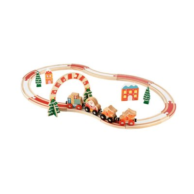 Early Learning Centre Wooden Christmas Train