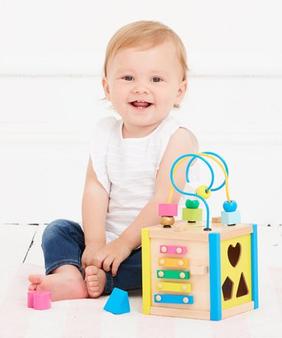 ELC Wooden Small Activity Cube