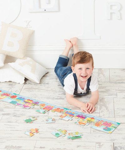 Touch and Feel Numbers Train Puzzle