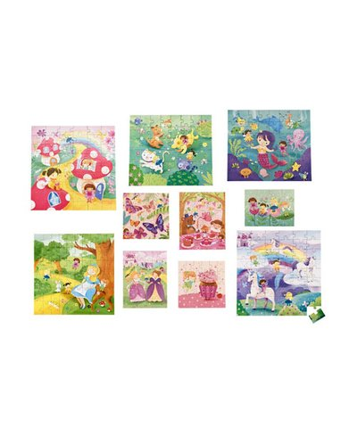 10-in-1 Fairy Adventure Puzzles