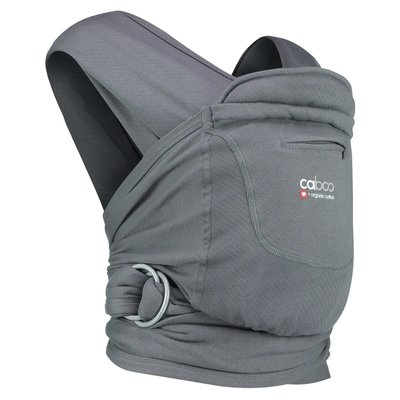 Caboo Organic Baby Carrier - Pewter