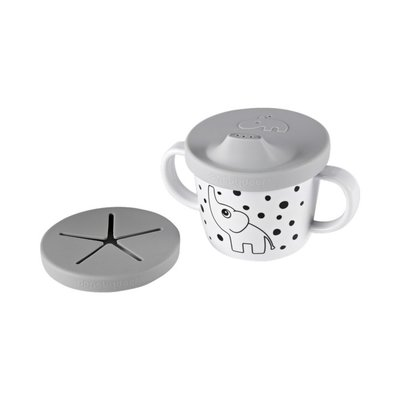 Done by Deer Silicone Spout/Snack Cup - Grey