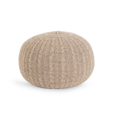 Tutti Bambini Knitted Pouffe - Stone - Default