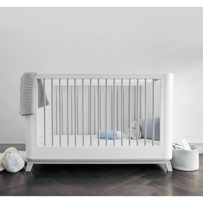 Baby Elegance Loop Cot Bed - Grey & White