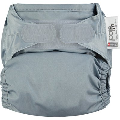 Pop In Single Bamboo Nappy -  Slate