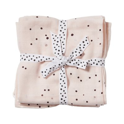 Done By Deer Burp Cloths 2 Pack Dreamy Dots Powder