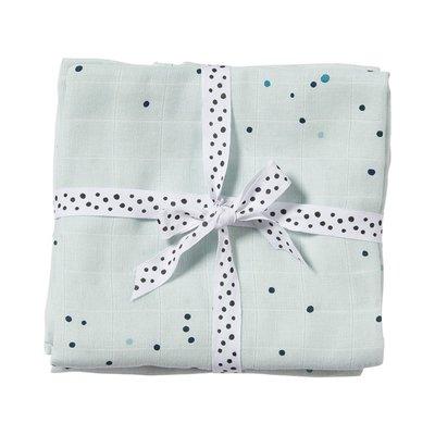 Done by Deer Burp Cloth 2 Pack Dreamy Dots Blue