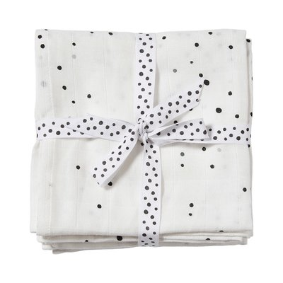 Done by Deer Burp Cloth 2 Pack Dreamy Dots White