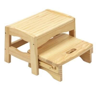 Safety 1st Wooden 2 Step Stool - Natural