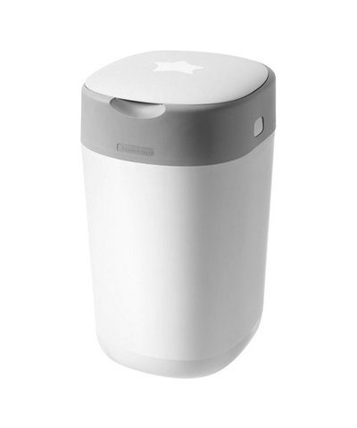 Tommee Tippee Twist&Click Advanced Nappy Disposal Sangenic Bin - White