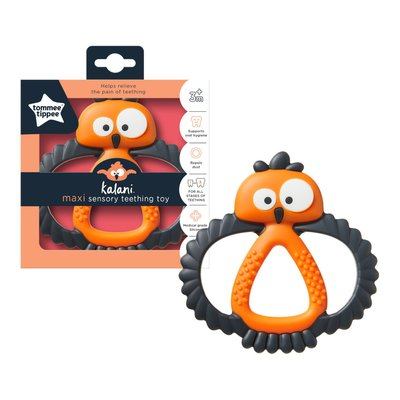 Tommee Tippee Kalani Sensory Maxi Teether - Black/Orange