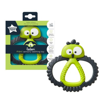 Tommee Tippee Kalani Sensory Maxi Teether - Black/Green