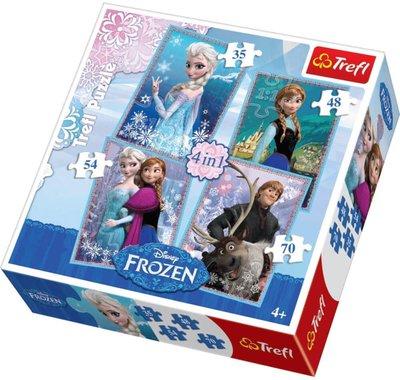 Disney Frozen 4 In 1 Jigsaw Puzzle Set