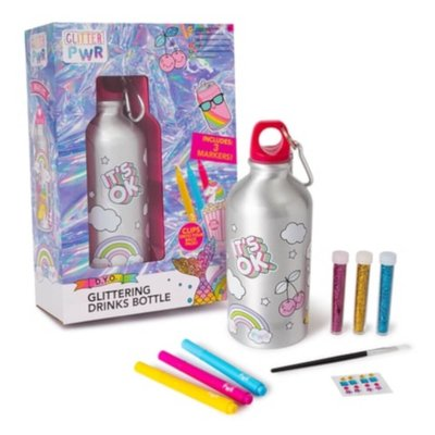 Glitter PWR Colour Your Own Water Bottle