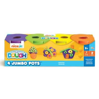 Nick Jr Dough 4 Jumbo Pots (Purple, Green, Yellow, Orange)