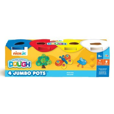 Nick Jr 4 Jumbo Pots (Blue, Red, Yellow, White)