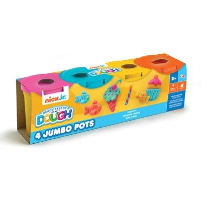 Nick Jr. Ready Steady Dough 4 Jumbo Pots (Pink, Blue, Yellow, Orange)