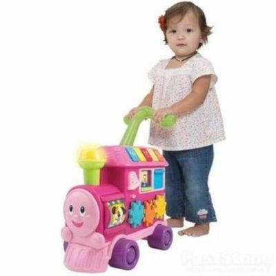 Walker Ride On Learning Train Pink
