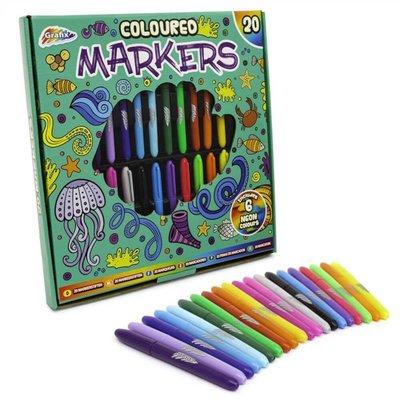 Grafix Coloured Markers 20pk