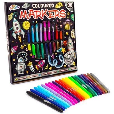 Grafix Markers Assorted 20pk