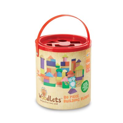 Woodlets 80 Piece Building Blocks