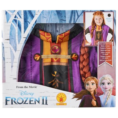 Disney Frozen 2 Anna Fancy Dress Set with Hair Braid