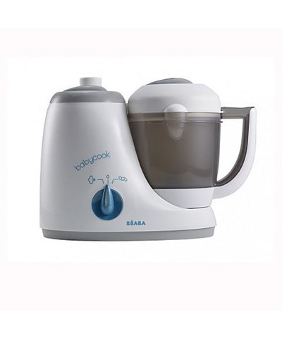 Beaba Babycook The Original Baby Food Maker/Steamer/Blender-  Grey/ Blue