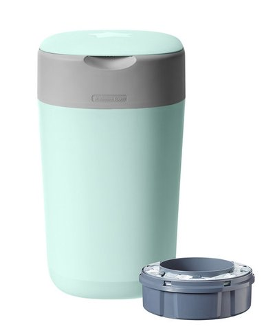 Tommee Tippee Twist & Click Advanced Nappy Disposal Sangenic Bin - Green