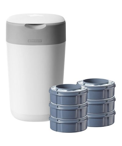 Tommee Tippee Twist & Click Advanced Nappy Disposal Sangenic Starter Pack