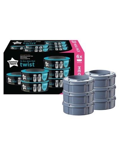 Tommee Tippee Nappy Wrapper Cassette - 6 Pack