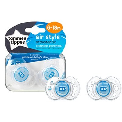 Tommee Tippee 6-18m Closer to Nature Air Style Soothers 2pk - Blue