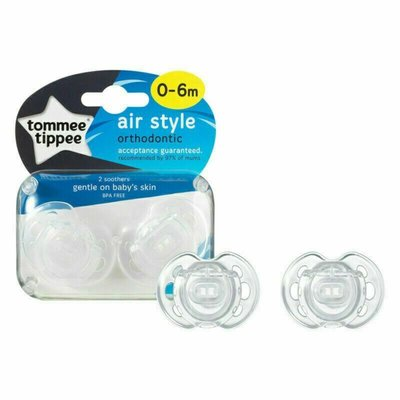 Tommee Tippee 0-6m Closer to Nature Air Style Soothers 2pk - Default