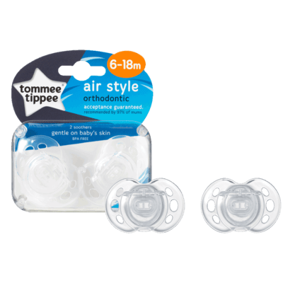 Tommee Tippee 6-18m Closer to Nature Air Style Soothers 2pk - Default