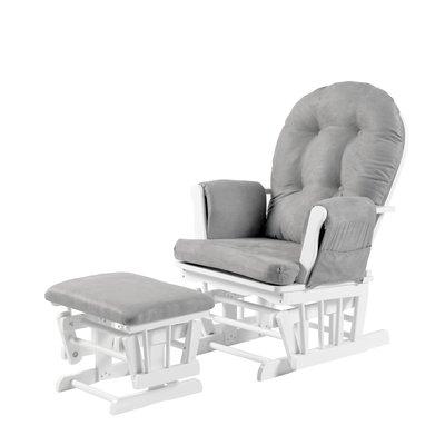 Babylo Brompton Glider Chair - Grey Suedette