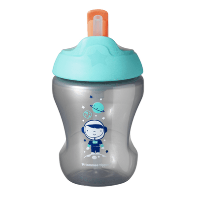 Tommee Tippee 7M+ Explora Straw Cup 230ml - Grey