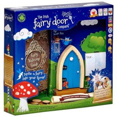 Irish Fairy Door Blue Arched