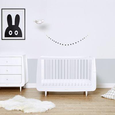 SnuzKot Skandi Cot Bed - White - Default