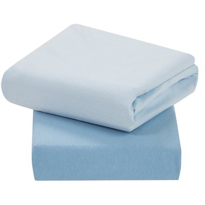 Clevamama Crib 2 Pack Fitted Sheets - Blue