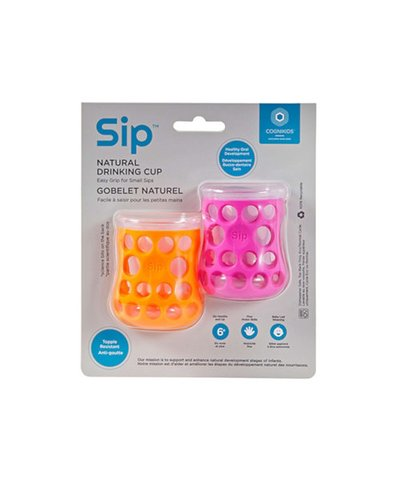 Cognikids Sip Natural Drinking Cup - Tangerine/Flamingo