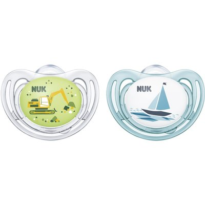 Nuk 0-6m Freestyle Soother - Blue
