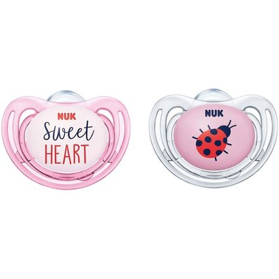 Nuk 18-36m Freestyle Soothers - Pink