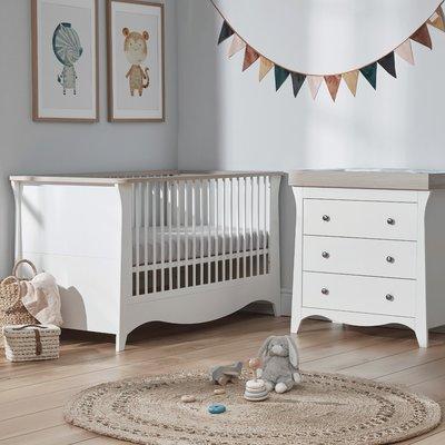 Cuddle Co Clara Cot Bed & Dresser Bundle - Driftwood Ash
