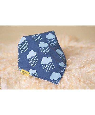 BabyBoo DribbleBoo Bandana Bib - Teal Rain Cloud