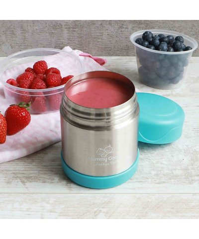 Mummy cooks food flask - blue